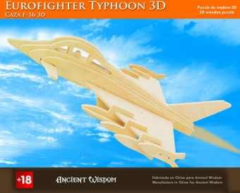 Houten 3d puzzle Eurofighter typhoon