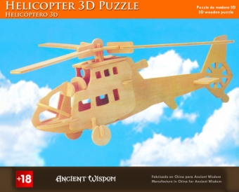 Houten 3d puzzle Helicopter